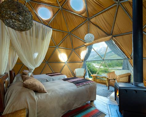 the ecoc geodesic dome retreat in patagonia is out of