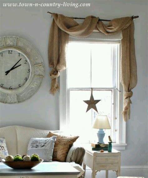 burlap swag curtains 25 best ideas about burlap window treatments on pinterest