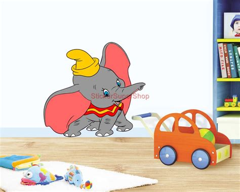 Dumbo Wall Stickers dumbo choose your size decal removable vinyl wall sticker
