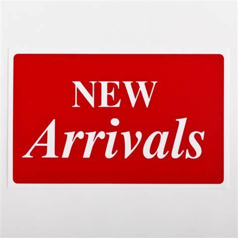 New Arriv sign new arrivals plastic a b store fixtures