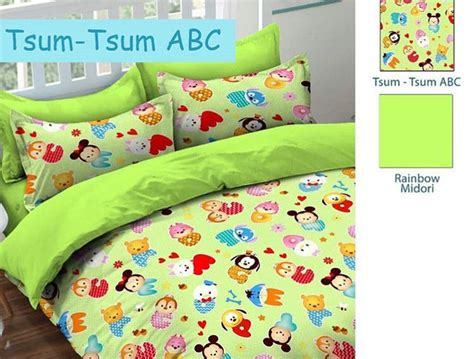 Sprei Tsum Tsum In detail product sprei dan bedcover tsum tsum abc midori