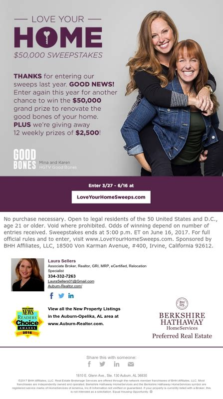 Love Your Home Sweepstakes - win 50 000 in the love your home sweepstakes