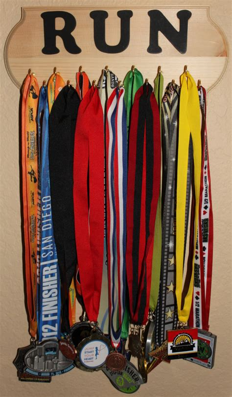 Triathlon Medal Rack by Diy How To Make A Race Medal Display Holder Trail