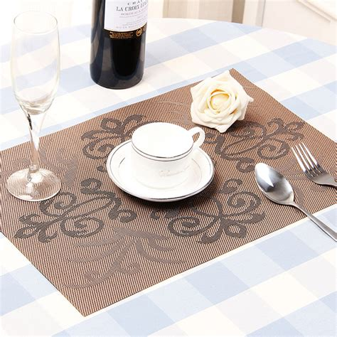 placemats for kitchen table cheap modern pvc coasters kitchen mat dining table place