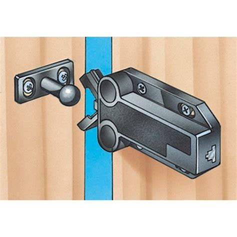kitchen cabinet door locks safe push touch latches select size and color rockler