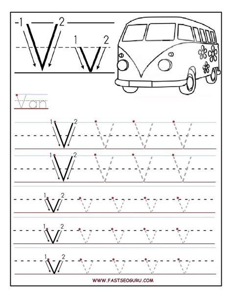free printable preschool worksheets tracing letters printable letter v tracing worksheets for preschool