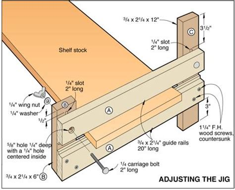 free woodworking projects plans and how to guides exact width dado jig