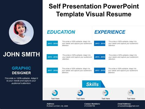Self Presentation Template Self Presentation Powerpoint Template Visual Resume Powerpoint Slides Diagrams Themes For