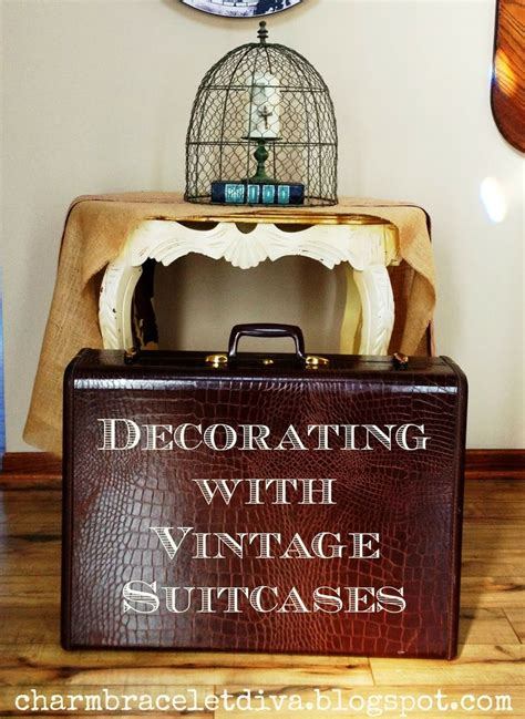 vintage luggage home decor decorating with vintage suitcases vintage suitcases
