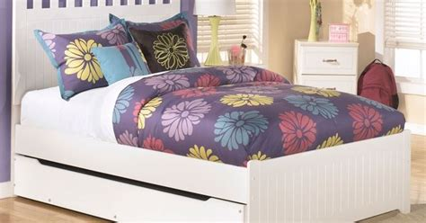 girls trundle bedroom sets lulu b102 full size panel bed with trundle ashley kids
