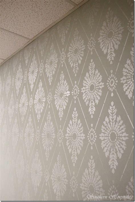 diamond pattern wall stencil diamond damask stencil how to stencil a wall southern