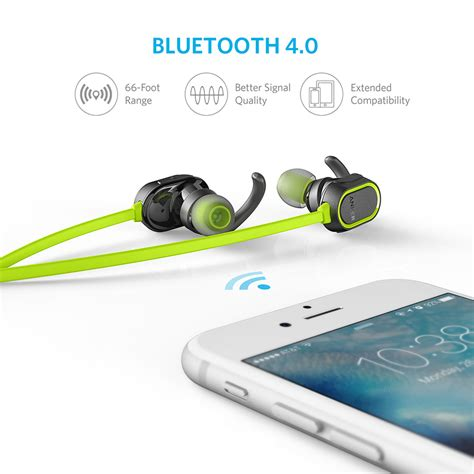 Anker Soundbuds Sport Earbuds Bluetooth Hijau A32330m1 anker soundbuds sport bluetooth headphone laraibnow