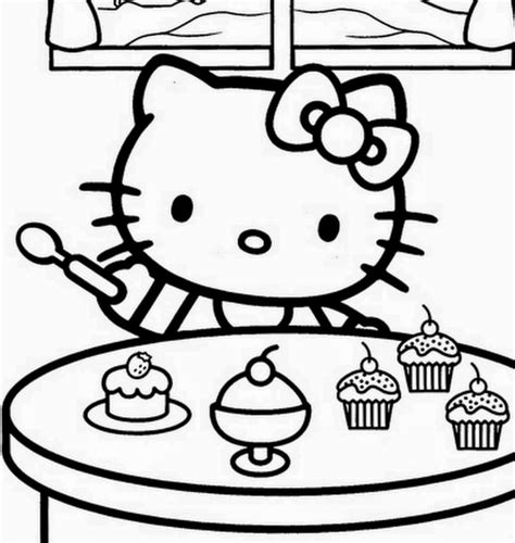 hello kitty cupcake coloring pages imageslist com hello kitty for coloring part 4