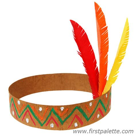 indian hat template american headband craft crafts