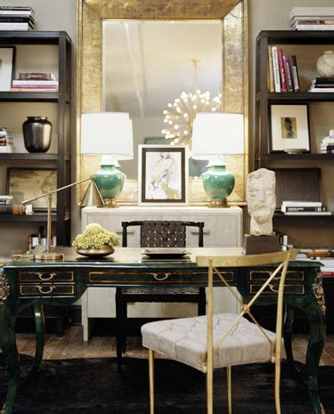 chic home office desk gold floor mirror contemporary den library office