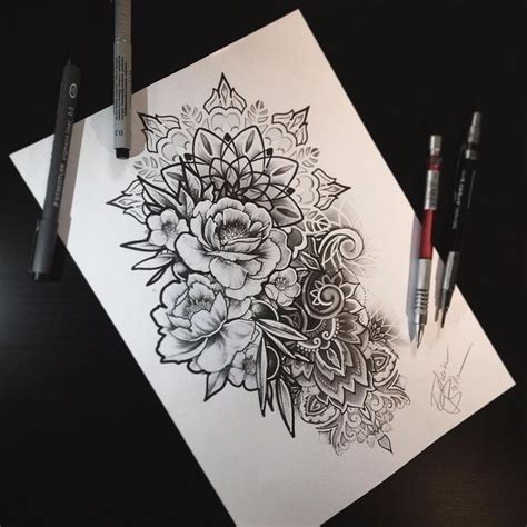 rose mandala tattoo 25 best ideas about mandala thigh on