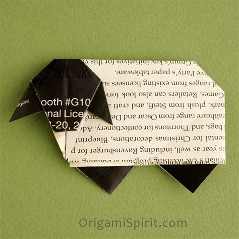 Origami Sheep - pin origami sheep on