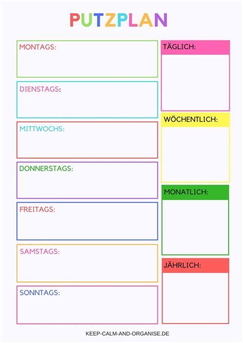Kostenlose Vorlage Checkliste die besten 25 putzplan wg ideen auf medizin organisieren wohnung reinigen und