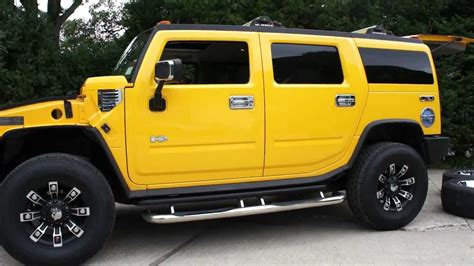 Yellow For Sale Yellow Hummer H2 For Sale 2 Sets Of Custom Rims Loads Of