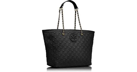 Burch Quilt Small Totepo burch marion quilted small tote in black lyst