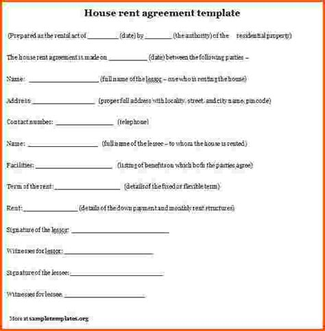 rent agreement template india rent agreement template india sle house rent contracts