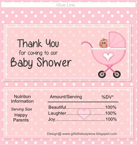 Bar Labels For Baby Shower by Baby Shower Wrappers Templates Free