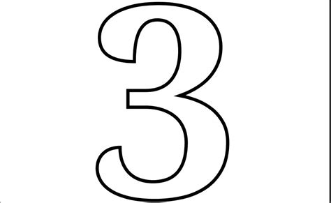 5 best images of printable number 3 printable number