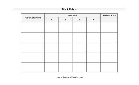46 Editable Rubric Templates Word Format Template Lab Free Rubric Template