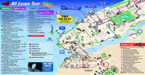New York Gray Line Tour Map by New York City Bus Tour Map New York City Mappery