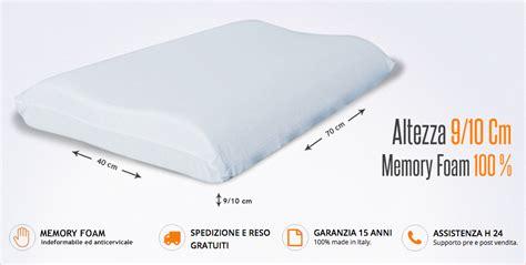 cuscino memory foam cervicale cuscino cervicale in memory con doppia onda per materasso