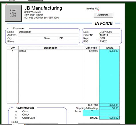 windows invoice template how can i make my excel 2000 invoice template work