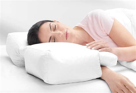 Pillow For Arm Sleepers by Arm Sleeper S Pillow Sharper Image