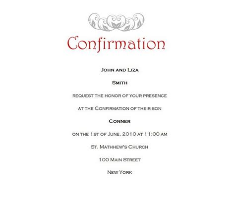 confirmation invitations templates confirmation free suggested wording by theme geographics