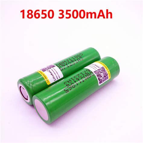 Lg Dbmj1 18650 Li Ion Batt 3500mah 10a 37v W Flat Top Ori Hija 2pcs new liitokala for lg mj1 chem 18650 inr18650mj1 10a discharge li ion battery cell 3500mah