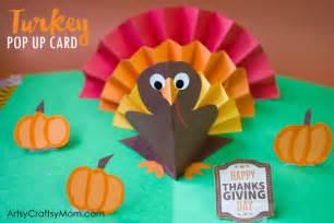 diy thanksgiving turkey pop card artsy craftsy mom