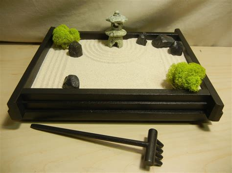 table zen garden s03p small desk or table top zen garden with pagoda lantern