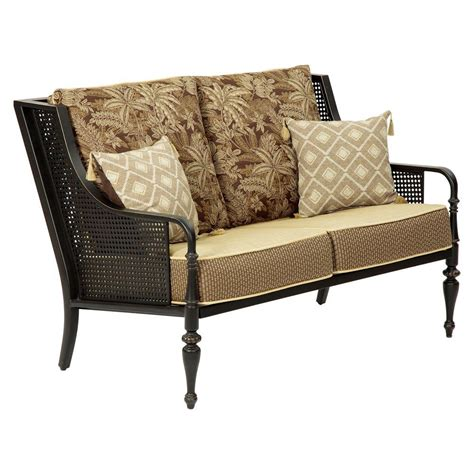 patio settee bombay outdoors sherborne patio loveseat with palmetto