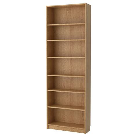 billy bookcase oak veneer 80x237x28 cm ikea