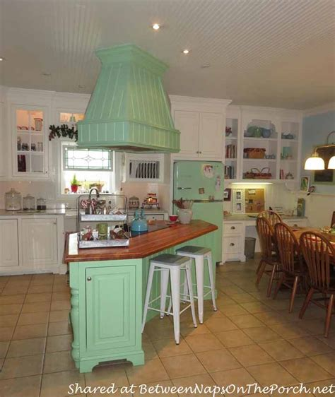 Modern Kitchen Cabinets Colors Farmhouse Kitchen Renovation With A Big Chill Refrigerator