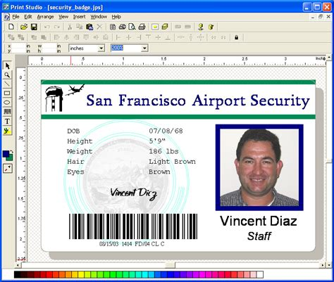 visitor card template software soft14 print studio id badge maker software print photo