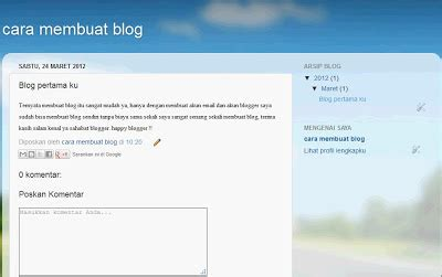tutorial cara membuat blog di cara membuat blog di blogger blog tutorial i