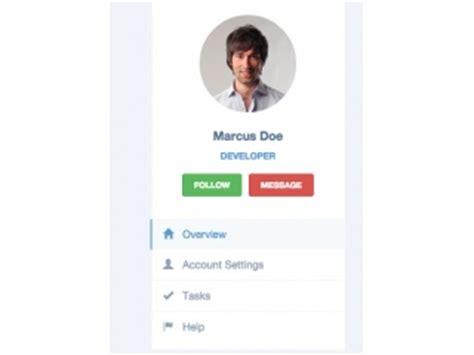 profile card template html bootstrap profile exles