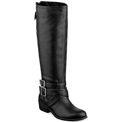 pink and pepper razor harness boots in black lyst
