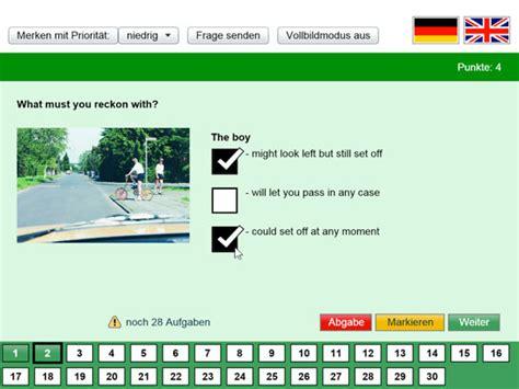 Führerschein Theorie Test Online Kostenlos by Myf 252 Hrerschein F 252 Hrerscheintest Auf Englisch