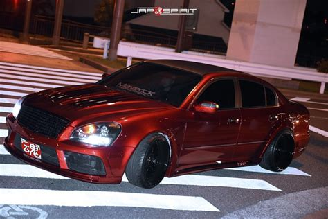 nissan cima f50 stancenation 2016 nissan cima f50 red color maverick