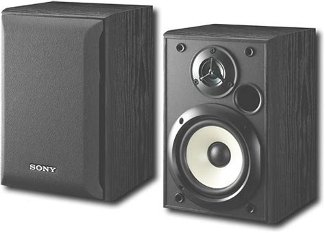 sony 5 1 4 quot 2 way bookshelf speakers pair ssb1000 best buy