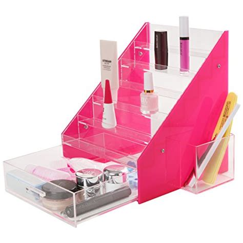Plastic Nail Rack by Pink Clear 36 Bottles Acrylic Nail Rack Organizer