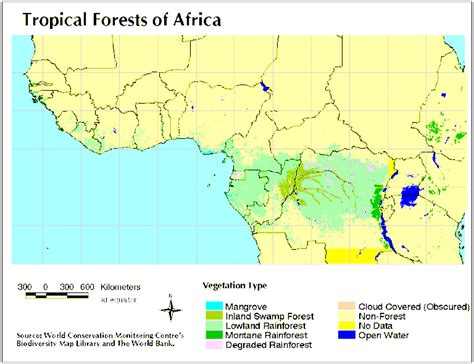 africa map rainforest the rainforest