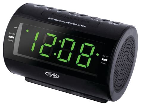 jensen amfm dual alarm clock radio alarm clocks houzz