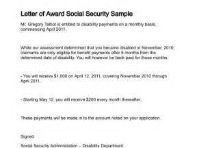 Appreciation Letter Award Winner social security disability award letter submited images